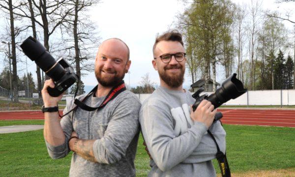 Fotoshoot for fotballgjengen