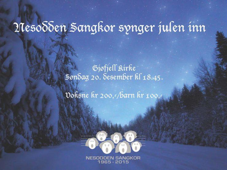 Nesodden sangkor synger julen inn