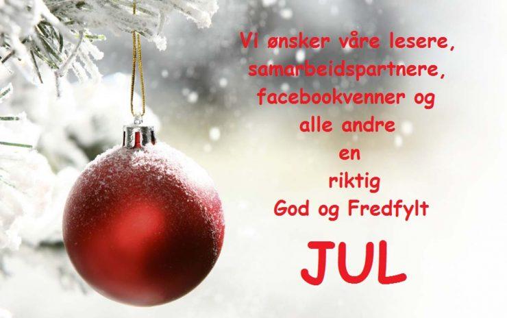 Vi ønsker alle en riktig God Jul