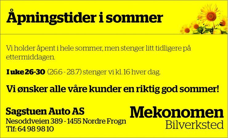 Sommeråpning  Sagstuen Auto
